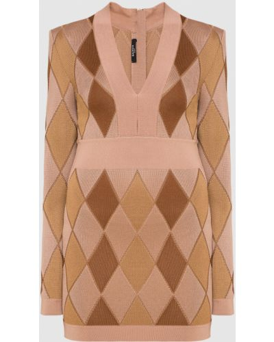 Платье миди - бежевое Balmain