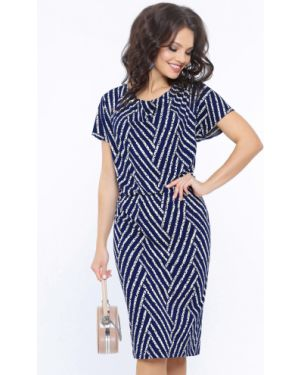 Свободное классическое плиссированное летнее платье с воротником Dstrend