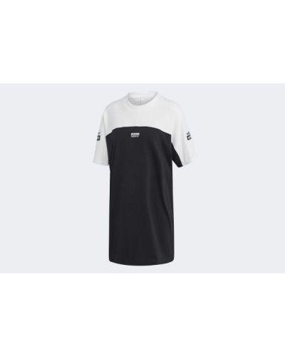 Sukienka bawełniana - czarna Adidas
