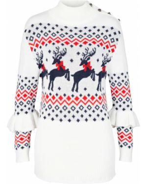 Пуловер с воланами Bonprix