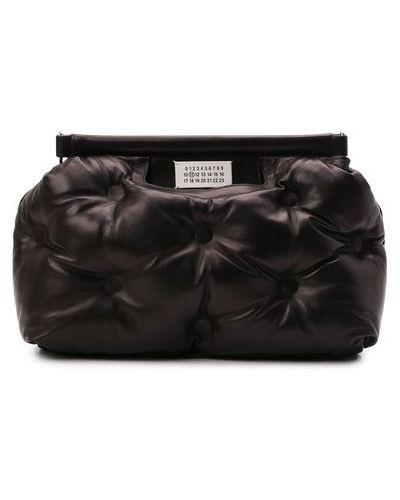 Черная кожаная сумка Maison Margiela