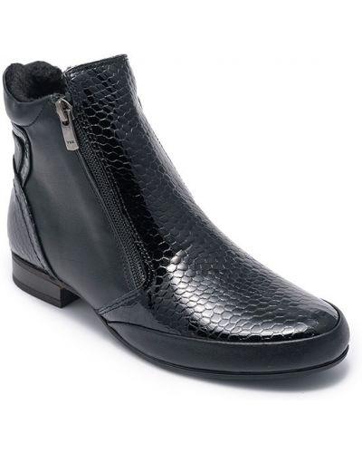 Кожаные ботинки - черные Trio Trend