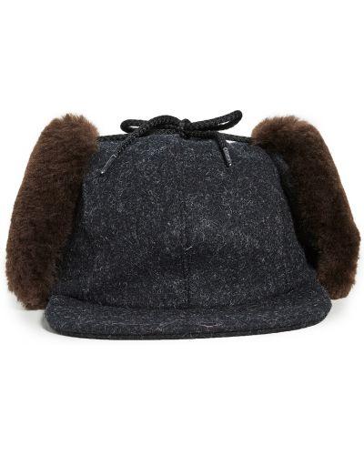 Brązowa czapka z nausznikami wełniana Filson