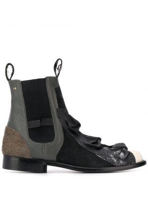 Кожаные серые ботинки челси винтажные на каблуке Comme Des Garçons Pre-owned