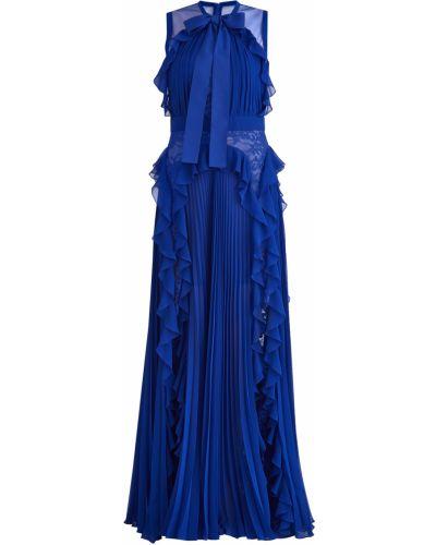 Вечернее платье макси с цветочным принтом Elie Saab