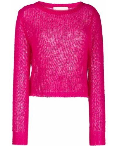 Розовый джемпер из мохера Chiara Bertani