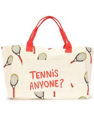 Хлопковая спортивная сумка круглая Mini Rodini