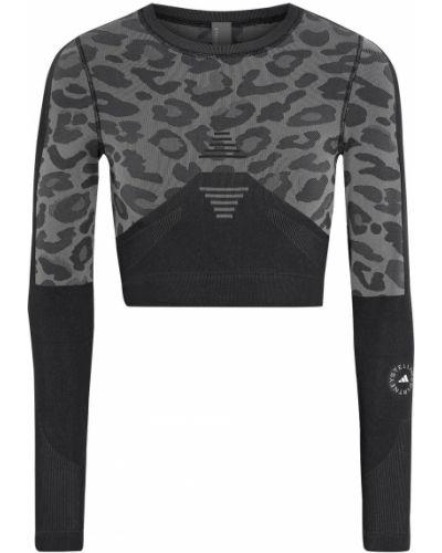 Укороченный топ - серый Adidas By Stella Mccartney