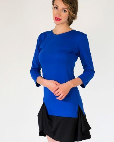 Платье осеннее синее Подіум