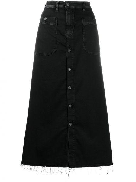 Джинсовая юбка на пуговицах макси Diesel