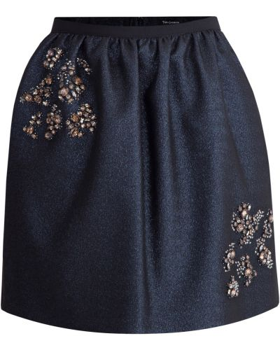 Юбка мини с вышивкой юбка-колокол Tara Jarmon