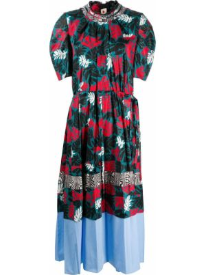 Шелковое платье миди - синее Marni