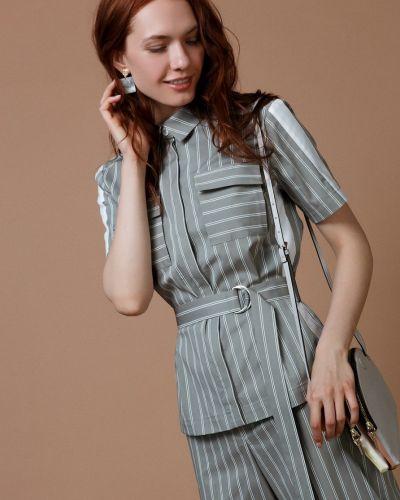 Блузка в полоску с поясом Audrey Right