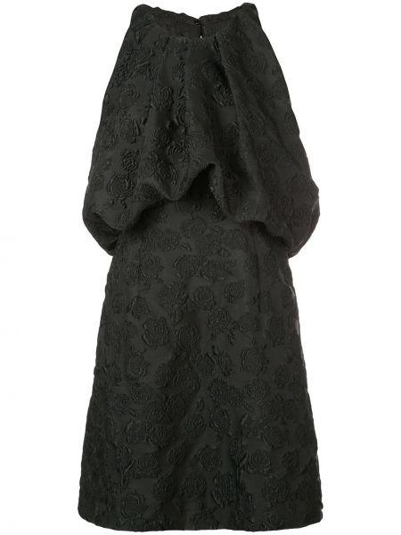 Шелковое плиссированное платье с вышивкой со складками Calvin Klein 205w39nyc