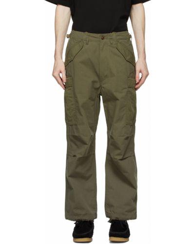 Spodnie khaki z paskiem bawełniane Nanamica