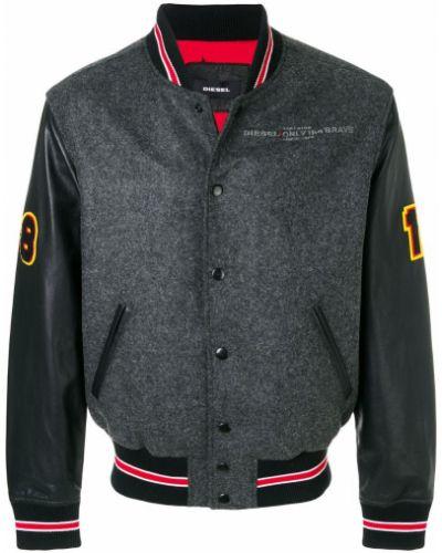 Длинная куртка кожаная на кнопках Diesel