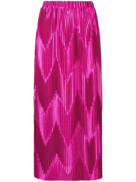 Spódnica plisowana na gumce karmazynowy Givenchy