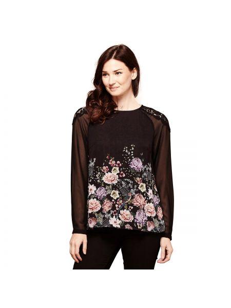 Блузка с длинным рукавом с цветочным принтом длинная Yumi