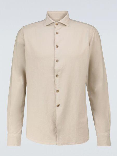 Beżowa koszula bawełniana Lardini