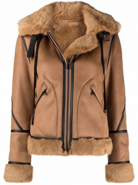 Brązowa kurtka z kapturem Urbancode