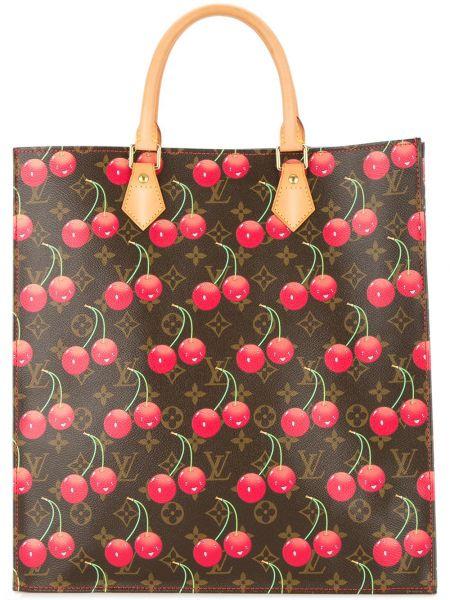 Красная сумка-тоут из натуральной кожи Louis Vuitton