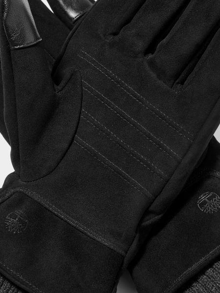 Кожаные перчатки - черные Timberland