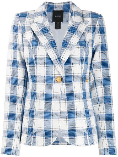 Классическая синяя куртка с лацканами узкого кроя Smythe