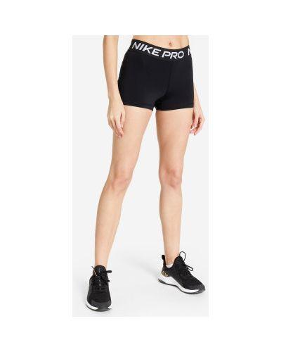 Кожаные черные спортивные шорты для фитнеса Nike