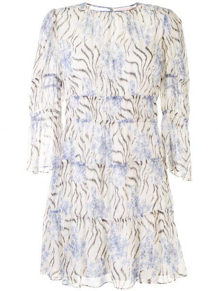 Белое прямое шелковое платье с вырезом Cinq À Sept