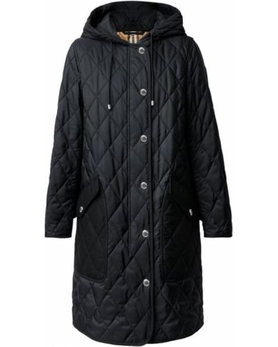 Черное пальто короткое Burberry