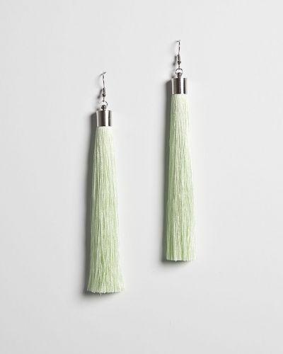 Зеленые серьги металлические Answear