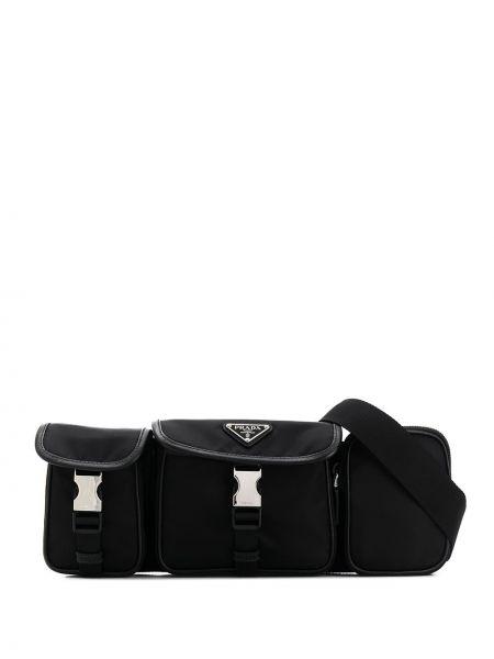 Поясная сумка черная Prada