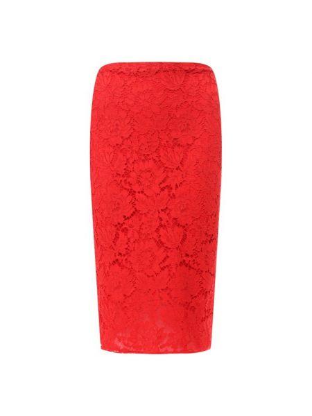 Юбка карандаш миди красный Valentino