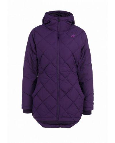 Утепленная куртка осенняя фиолетовый Asics