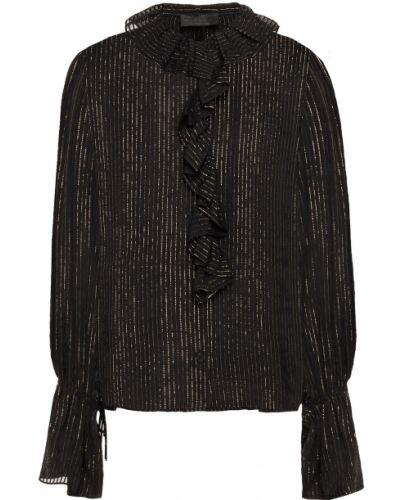 Шелковая блузка - черная Nili Lotan