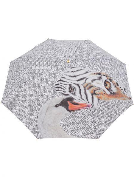 Зонт с принтом металлический Burberry