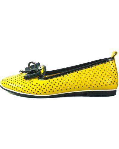 Желтые балетки Topas