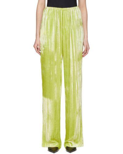 Spodni aksamit żółty spodni garnitur bezpłatne cięcie Balenciaga