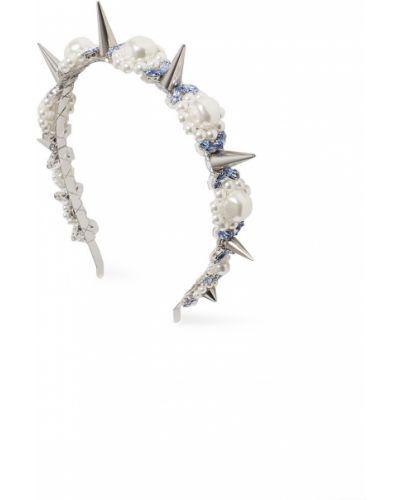 Ободок с жемчугом - серый Simone Rocha