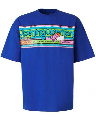 Niebieska t-shirt Opening Ceremony