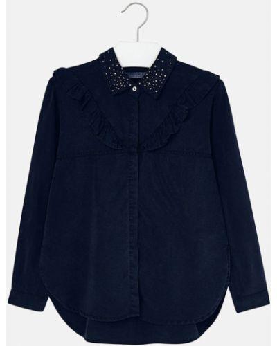 Блуза синий на пуговицах Mayoral