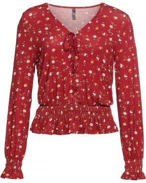 Блузка со шнуровкой Bonprix