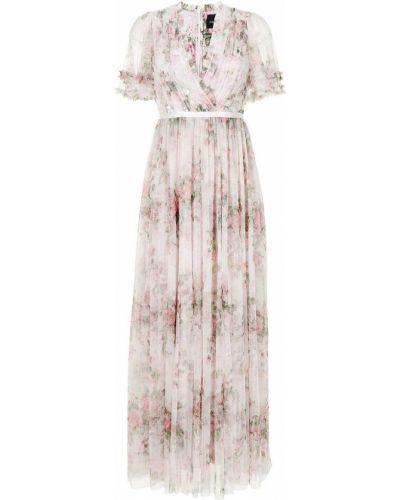 Розовое вечернее платье с вырезом Needle & Thread
