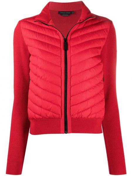 С рукавами красная нейлоновая куртка с перьями Canada Goose