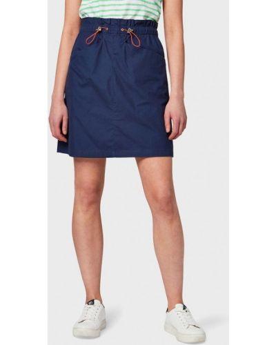 Джинсовая юбка синяя индийский Tom Tailor Denim