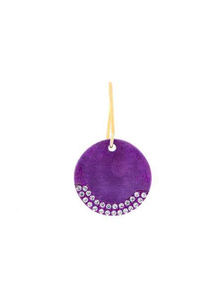 С цирконием фиолетовые серебряные серьги с подвесками Eye M By Ileana Makri