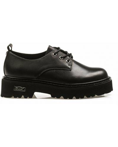 Czarne sneakersy na platformie Cult
