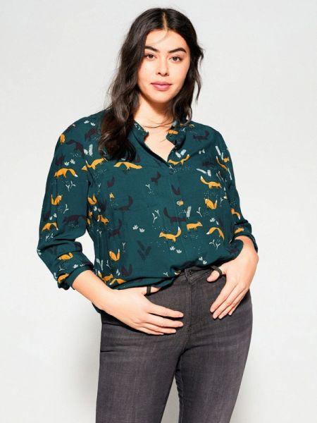 Блузка зеленый весенний Violeta By Mango