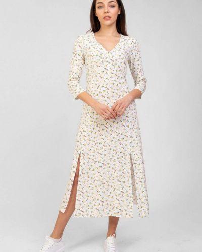 Прямое белое платье А-силуэта Bessa