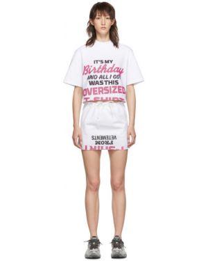 Платье мини розовое вязаное Vetements